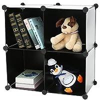 C&AHOME DIY Bookcase Storage Organizer Cabinet, Translucent