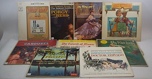 HUGE Musical & Movie Soundtrack Lot of 9 Vinyl Record Albums Annie Get Your Gun and more