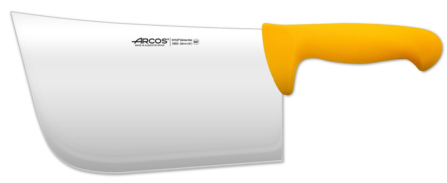 Arcos 10-Inch 250 mm 900 gm 2900 Range Cleaver, Yellow