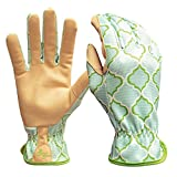 Digz Planter Women's Medium Multi-Colored Synthetic Leather Garden Glove (2-Pack)