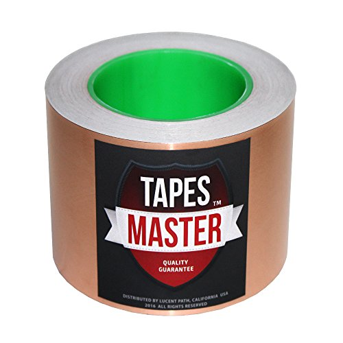 "Tapes Master 2"", 3"", 4"", 5"", 6"" x 36 Yds Copper Foil Tape - EMI Shielding Conductive Adhesive tape (3 inch)"
