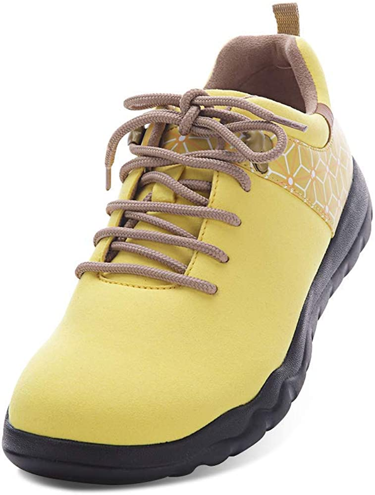 UIN Mens's Women's Quebec Microfiber Travel Sneaker Walking Lace-up Shoes Unisex
