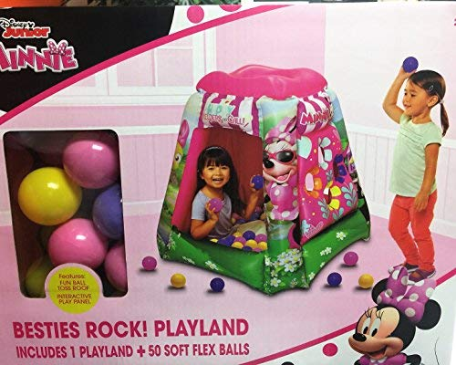 Disney Junior''s Minnie Besties Rock! Playland with 50 Soft Flex Balls