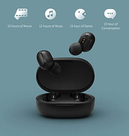 bafc05b7f0b Redmi Airdots Earphones Bluetooth 5.0 with Google Voice Assistant, Bluetooth  Headphones 12h Playtime True Earphones