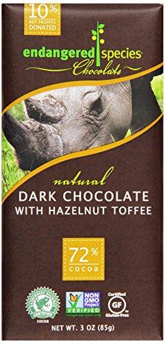 Endangered Species, Dark Chocolate and Hazelnut Bar, Black Rhino, 3 ()