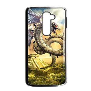 Ancient Dragon LG G2 Cell Phone Case Black TPU Phone Case SY_824415