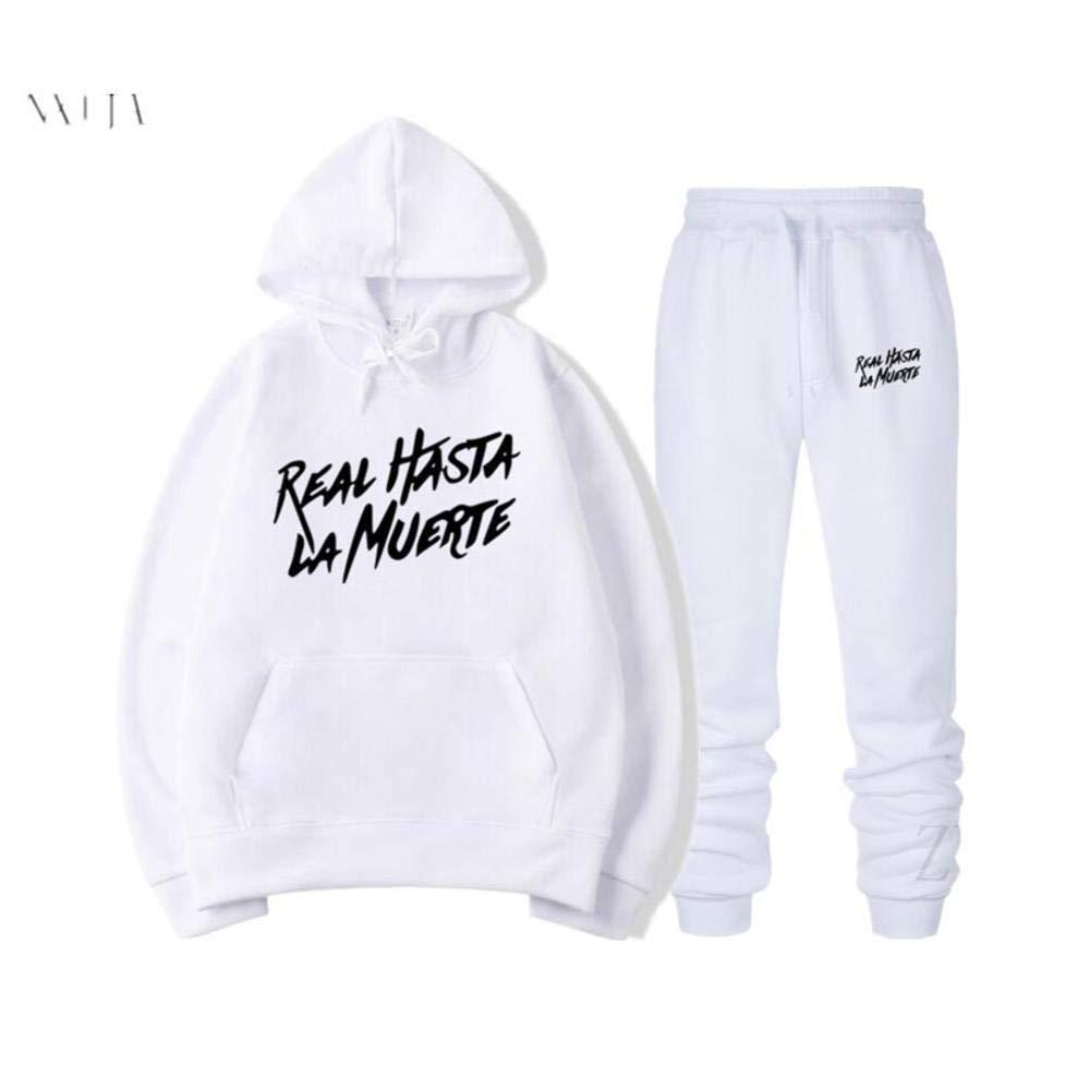 Sudadera con Capucha Pantalones Real hasta La Muerte Be The Light Conjunto Completo Hooded Sweatshirt Estampados Sudadera de Manga Hombres Mujer