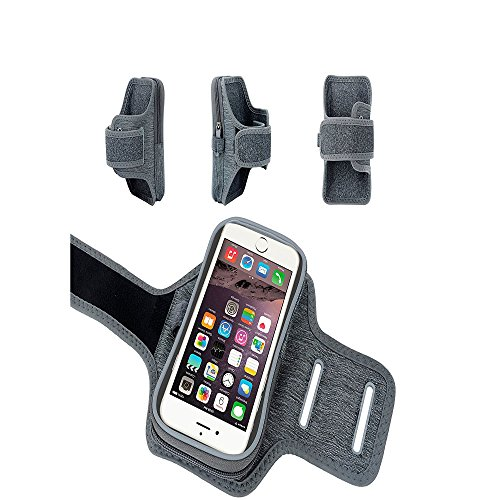 SOUTHSTARDIGITAL Armband Cell Phone Workout Arm Band Touch Screen for iPhone 7/8 Plus 6/6s Plus, Samsung Galaxy S6/S5, 5.5 Inch, Key Holder, Running, Hiking, Cycling, Walking GARY