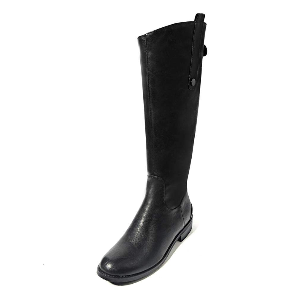 HOESCZS Plus Größe 34-43 Marke Damenschuhe Frau Reitstiefel Mode Mode Mode Beste Qualität Mode Winter Kniehohe Stiefel Frau Schuhe, 41dbd3