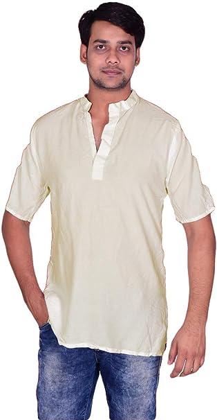 Lakkar Haveli Mens Indian 100/% Cotton Loose Fit Black Strips Shirt Kurta Tunic Plus Size