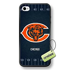 NFL Chicago Bears Team Logo Case For Sumsung Galaxy S4 I9500 Cover Black Soft Hard (PC) Case CovBlack
