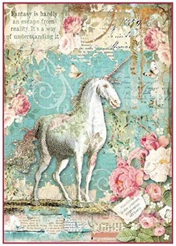 Rice Paper Napkins Wonderland Unicorn dft336