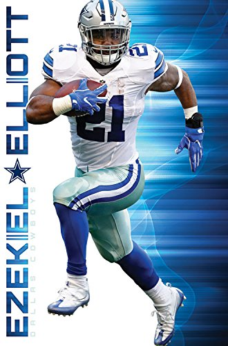 Trends International RP15013 Wall Poster Dallas Cowboys Ezekiel  Elliott,,22.375u0026quot; ...