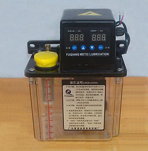 TOPCHANCES 110V 1.5L Dual Digital Display Automatic Lubrication Pump Oiler CNC Pump 6mm