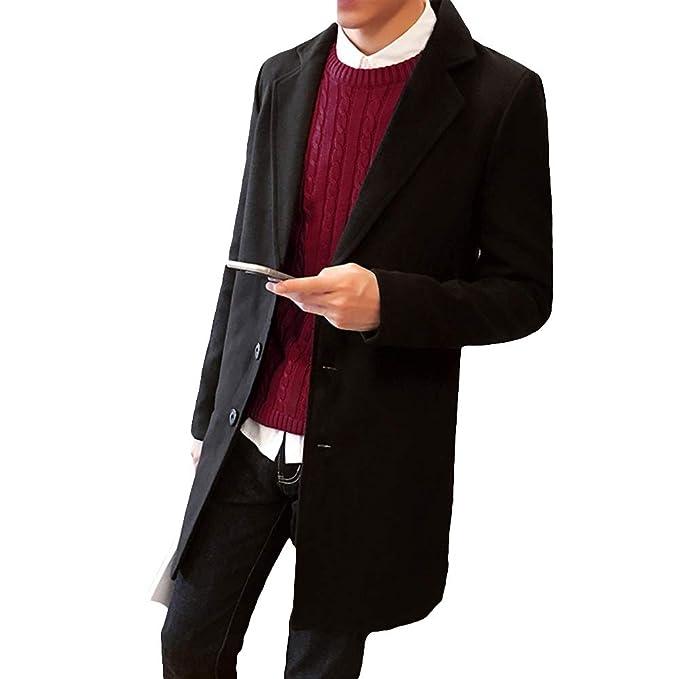 TaLs9yLI Coat Jacket for Men Fashion Men Solid Color Autumn
