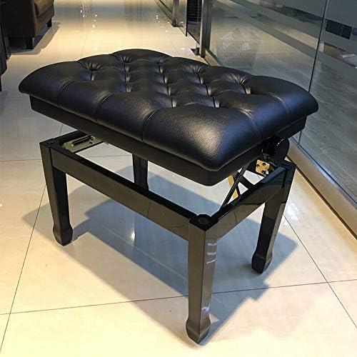 ピアノスツール 古筝スツールエレクトリック・ピアノスツール調節ピアノスツールリフトソリッドウッド太いピアノ椅子スツール1人 メンテナンスが簡単で実用的 (色 : Black, Size : 60x40x58cm)