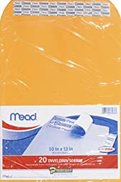 Mead Press-It Seal-It Envelopes, 10 x 13 Inches, Office Pack 20 Count (76088) Pack Of 2 = 40 Envelopes