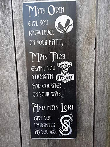 Viking Blessing Sign. Hand Painted Wood Sign 7.5x20