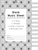 Blank Music Sheet: 12 Staves Music Writing Pad Each Pages, With 100 pages Manuscript Paper | Staff Paper | Musicians Notebook | Beautiful Black & ... paper notebook, geometric mania collection)