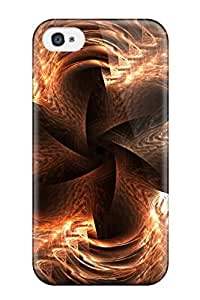 Eric S Reed Snap On Hard Case Cover Shapes Abstract Protector For Iphone 4/4s