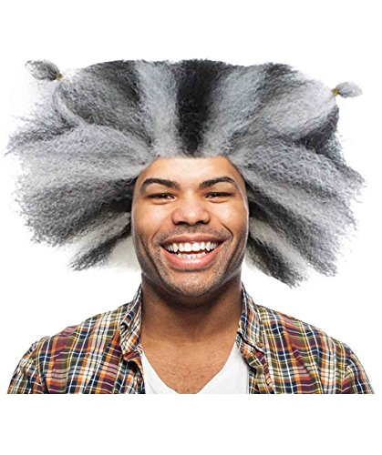 Halloween Party Online Cats Musical Wig, Black & White Adult HM-610A