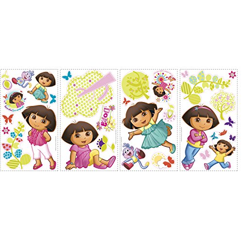 RoomMates RMK1378SCS Dora the Explorer Peel & Stick Wall Decals