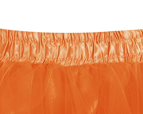 en Rockabilly dguisement Tutu Jupe Bridesmay 50 Tulle Jupon annes Orange Ballet zaFqxxpwI