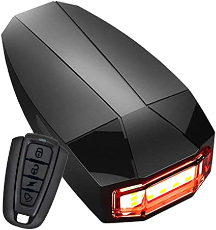 Bike Tail Light Built-in anti-theft /& search system remote taillights USB Rechargeable Taillights with 10 LED 120 lumens /& 3 Light Mode Options /& 100 meter Remote Control /& 120 DB bells Waterproof XIAOKOA FBA/_A6