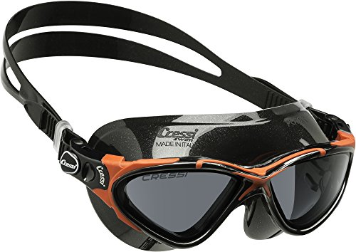 Cressi Planet, Black-Black/red, Tinted Lens by Cressi