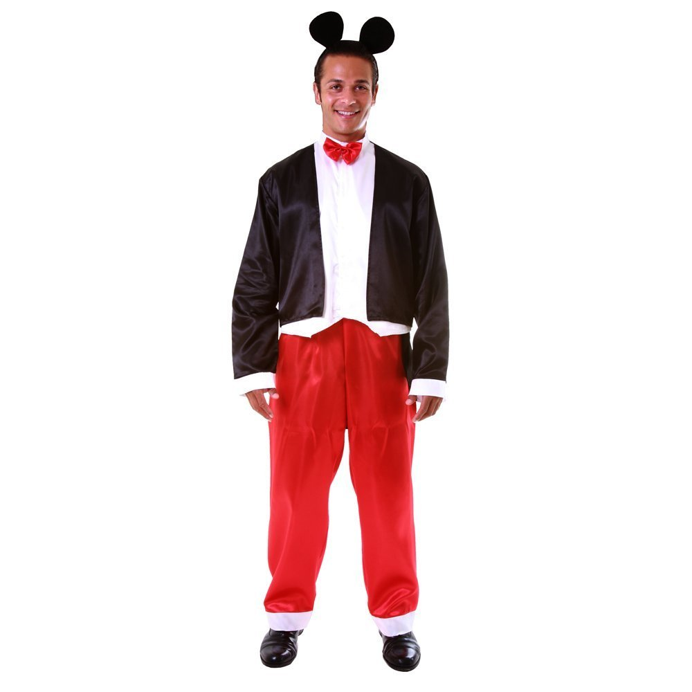 barato en alta calidad Dress up America Deluxe Adult Mr Mouse Costume Set with with with Attached Shirt  Bowtie  Trousers and Headpiece (XL) by Dress Up America  el mas de moda