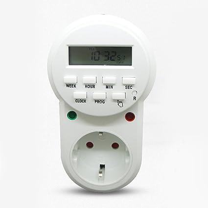 Temporizador Electrónico Programable, Temporizador Digital de Ciclo Plug Hora por Segundo, con Aleatorio Pantalla
