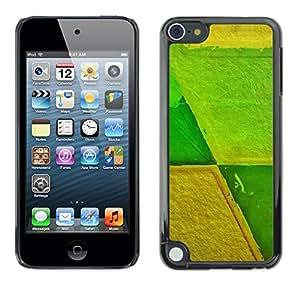 TopCaseStore / la caja del caucho duro de la cubierta de protección de la piel - Agriculture Farming Abstract Green Yellow - Apple iPod Touch 5