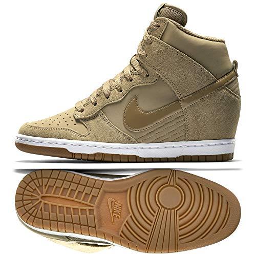 Nike WMNS Dunk Sky Hi Essential 644877-200 Desert Camo Hidden Wedge Women Shoes (10.5)