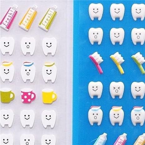 Pegatinas esponjosas kawaii diente dientes de Japón: Amazon.es: Juguetes y juegos