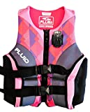 Fluid Aquatics Women's EvoPrene Life Vest with Camera Mount, Pink/Black (M) 33-37'' chest