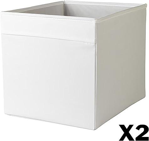IKEA DRONA caja de almacenamiento plegable 2 (blanco): Amazon.es: Hogar