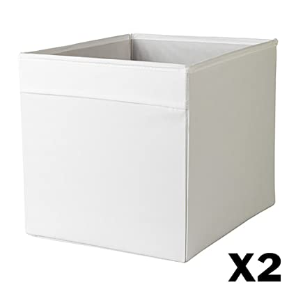 Gentil Ikea DRONA Foldable Storage Box 2 Pack (White)