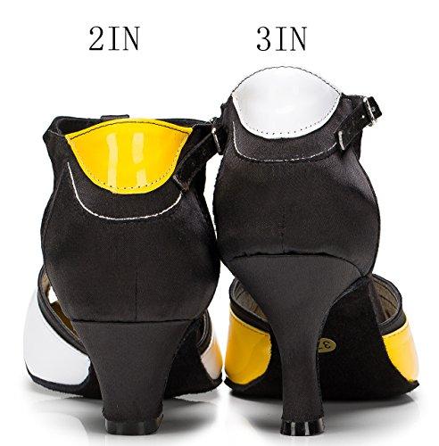 CFP CCM-1033 Zapatillas de danza para mujer (danza latina y de salón) blanco