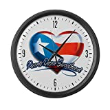 Large Wall Clock Puerto Rican Sweetheart Rico Flag