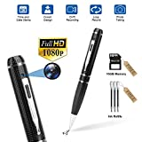 Hidden Camera Pen Recorder,FUVISION Spy Camera Pen Camcorder with Photo Taking,2 Hours Battery Life,Portable Digital Recorder with 16GB Memory and 3 Ink Refills Pocket DVR for Business and Conference