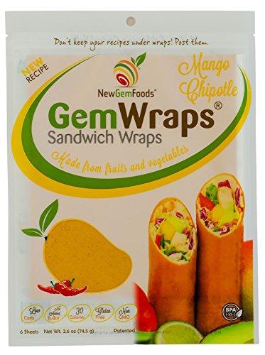 GemWraps Mango Chipotle Sandwich Wrap (Soy Wraps)
