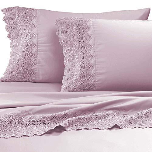AURAA Smart 600 Thread Count Cotton Rich, 4 Piece Sheet Set, 16