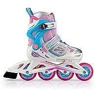 Kinder und Mädchen Rosa einstellbar Inline-Skate Größe 32-35