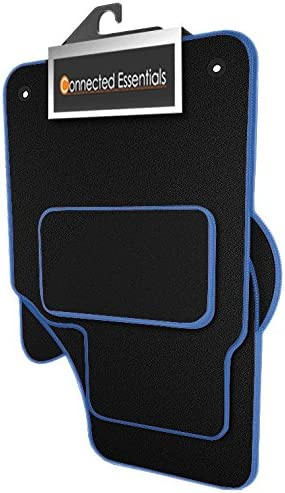 6 Piece Set Black with Blue Trim 2012- Connected Essentials 5029700 Tailored Heavy Duty Custom Fit Car Mats Vauxhall Zafira Tourer