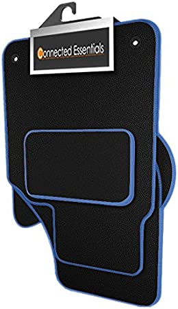 2010-2013 Connected Essentials 5031820 Grey with Blue Trim Tailored Heavy Duty Custom Fit Car Mats Chevrolet Spark