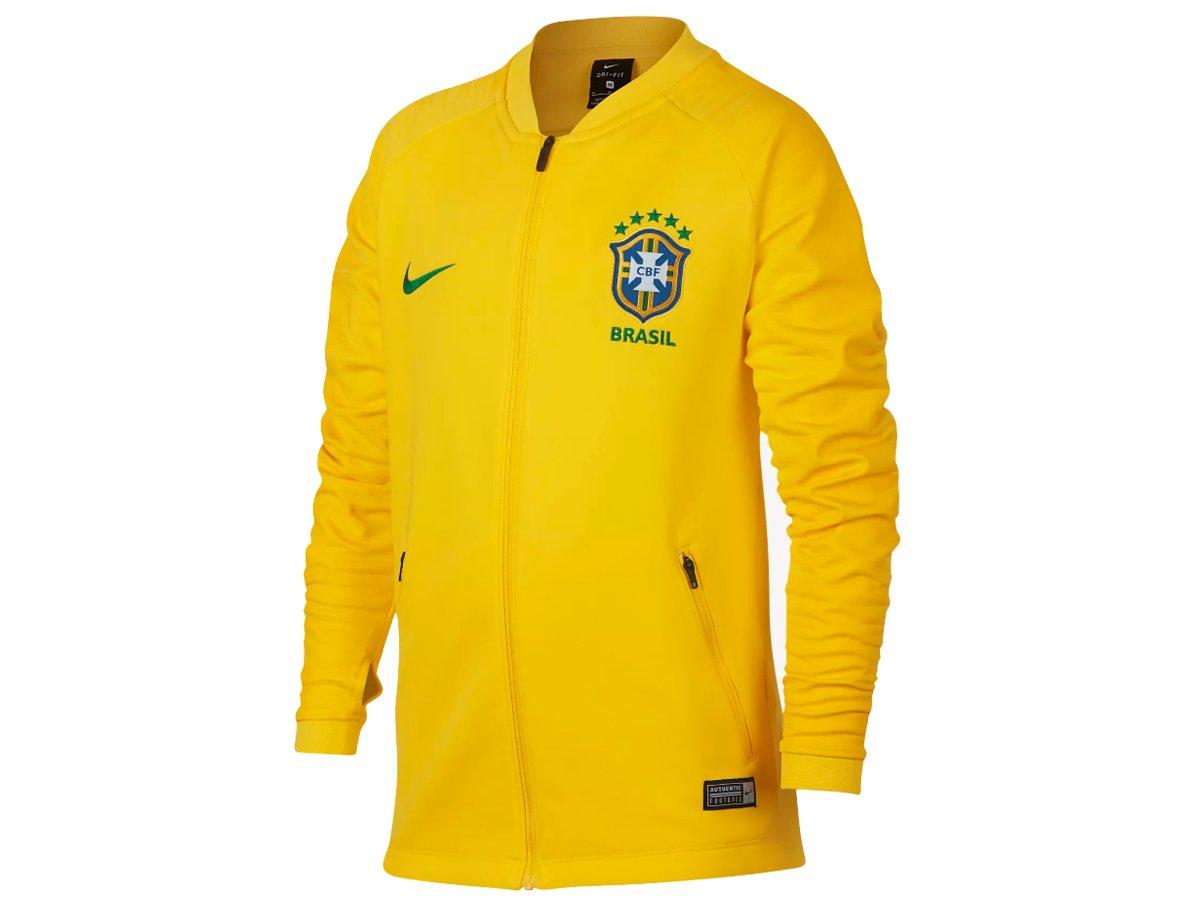 NIKE(ナイキ) ジュニア サッカーウェア Brasil CBF アンセム ジャケット ブラジル代表 893843 B0762TK7C7749ミッドウエストゴールド 140