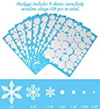 Moon Boat 320PCS Christmas Snowflakes Window Clings Decals Winter Wonderland Decorations Ornaments Party Supplies