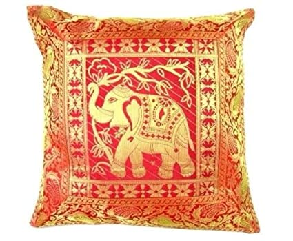 Amazon Ganesham Handicraft Indian Ethnic Decorative Silk Enchanting Indian Silk Decorative Pillows