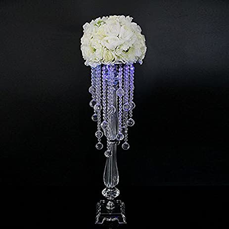 Amazon faybox wedding centerpieces flower stands acrylic faybox wedding centerpieces flower stands acrylic pendant table decor 18quot tall 6 pieces junglespirit Gallery