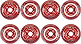 Revision Wheels Inline Roller Hockey Flex Soft Red/White 76mm 76A 8-Pack